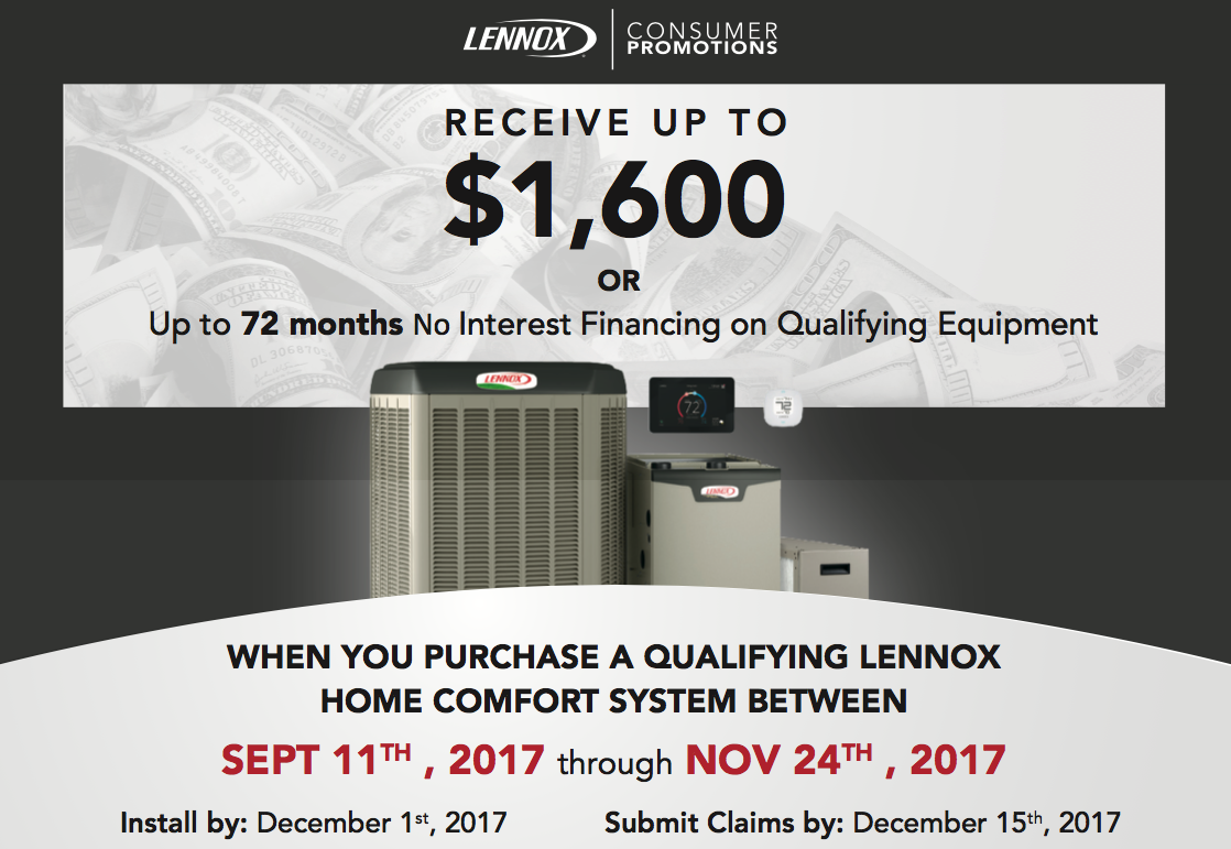 lennox home comfort system. fall lennox home comfort system promotion brought to you by russell\u0027s hvac in chesapeake, virginia o