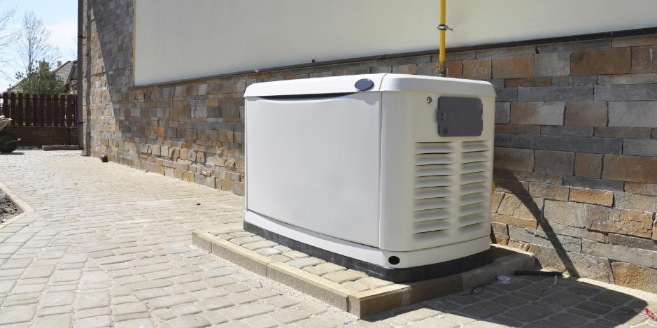 home generator on side of house