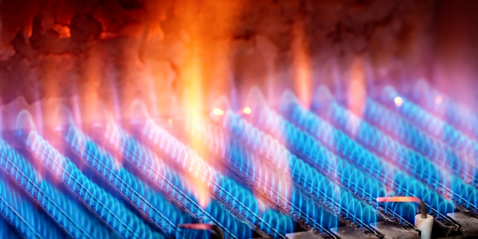 furnace burning