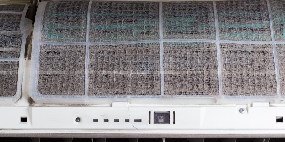 dirty mini split air filter